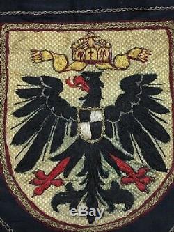 Original World War 1 WW1 Imperial German Veterans Silk Flag Embroidered Banner
