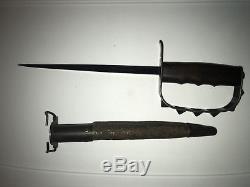 Original World War I Model 1917 LF&C Stamped Trench Knife