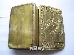 Original Ww1 Brass Princess Mary Christmas Tin 1914 With Contents