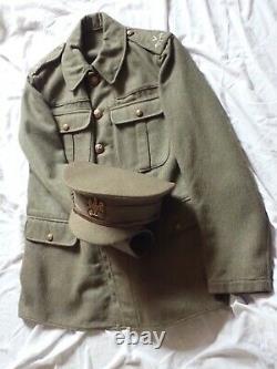 Original Ww1'home Guard' Nottingham Volunteers Tunic And Cap