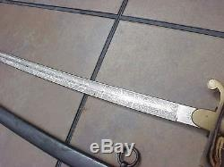 Original Wwi German Double Engraved Unit Marked Sword / Saber
