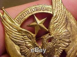 Original Wwi Ultra Rare Us / French Lafayette Flying Corps Badge With Star