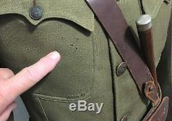 Original Wwi Us Army Officers Uniform Grouping Named Tunic Visor Cap + More