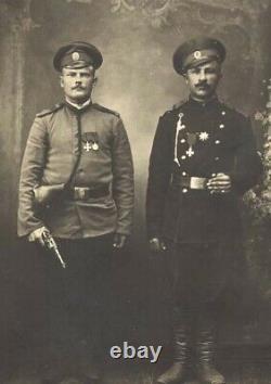 Original marked WWI Russian M1895 Nagant Revolver leather left-handed holster