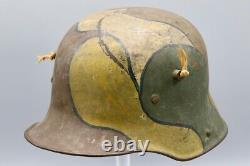 Outstanding Original German WWI M1917 Steel Camouflage Helmet
