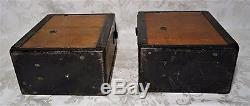 Pair of Antique US WW1 Field Telephone Signal Corps Morse Kellogg Model 1917