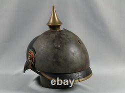 Pickelhaube Stirnpanzer 1. Wk brow plate helm helmet ww. 1 casque armour ww1
