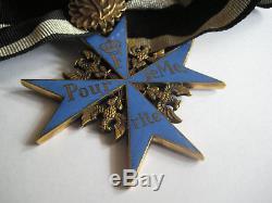 Pour le Merite knight cross WWI highest award blue max + oak leave Juncker rare