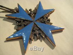 Pour le Merite knight cross WWI highest prussia award blue max Godet medal rare