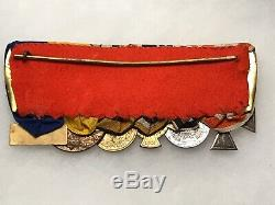 Pre-WW1 6-Place Imperial German Medal Bar Red Eagle Order Pin/Badge/Award