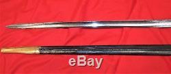 Pre WW1 British Naval 1786 Pattern Naval Officers 5 Ball Hilt Sword & Scabbard