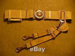 Pre-WWI Mills US Army M1910 Officer's Garison Belt with Saber Hanger&Belt Slide