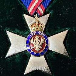Pre Ww1 C. 1902 Royal Victorian Order 5th Class Medal #195 Cased Foreign Award