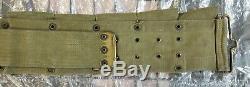 Pre Ww1 U. S. M. C. Eagle Snap Riflemans Belt, Dated Mills 1915, Read Description