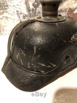 Prussian (german) Pickelhaube Leather WW1 Spiked Helmet Original