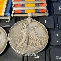 Queen's South Africa -5 Clasp +WW1 Victory Medal / Pte Whyatt -Welsh Reg $350.0