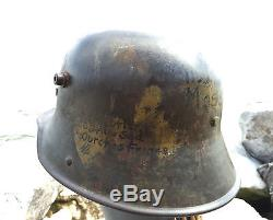 RARE 100th Aero Squadron Mailed 1916 German WW1 WWI M16 Helmet CAMO Camouflage