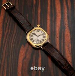 RARE 1917 WWI Elgin Trench Watch, Admiral Benson Gold Filled Case SERVICED