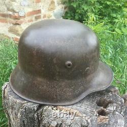RARE CASQUE ALLEMAND M18 1GM WW1 helm helmet german stahlhelm D'ORIGINE SUPERB