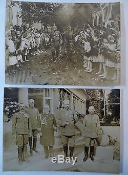 RARE Orig Photo LOT WWI German Soldier Hindenburg 1916 Ludendorff Kaiser Wilhelm