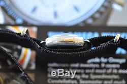 RARE! Vintage WWI Era 1918 Omega Watch Original Porcelain Dial Silver Case Runs+