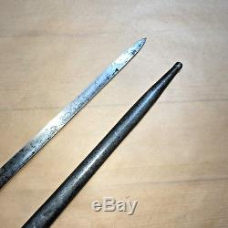 RARE WW1 GERMAN ERSATZ ERSOC Bayonet & Scabbard P1853 Blade
