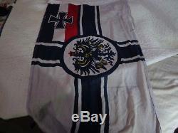 RARE. WWI, 1915. KRIEGSMARINE, German Flag, IMPERIAL NAVY. ATTIC FRESH. Original