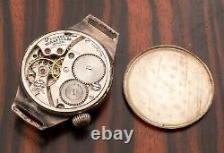 RARE WWI Waltham Trench Watch, 15 Jewels, Original Patina SERVICED WITH WARRANTY