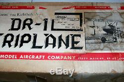 RC Balsa Kit AIrpllane Kit VK Fokker DR-1 Triplane WWI Wingspan 47