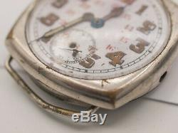 Rare Fontainemelon FHF Rolex WWI Military Trench Watch & Shrapnel Guard -Parts