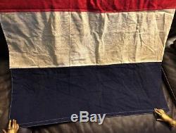 Rare Old French Flag Ww1 France Antique Vintage