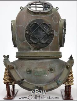 Rare US Navy Mark V Schrader / Morse Diving Divers BRASS COPPER Helmet#1265