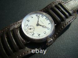 Rare WW1 Rolex Military Officers Trench watch! First Rolex screw back / front