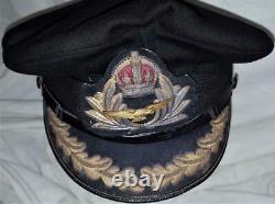 Rare WW1 era Royal Navy Fleet Air Arm uniform senior officer's peaked cap