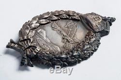 Rare WWI German Prussian Pilot's Badge in Silver ORIGINAL