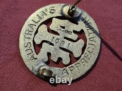Rare Ww1 Australian Army Nursing Service & Gold Enamel Badge Aans Aif