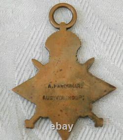 Rare Ww1 Australian Voluntary Hospital Unit Later Rnas Rnvr 1914 Mons Star Medal