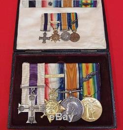 Rare Ww1 British Army 1914 Star & Bar Military Cross Medal Group Major Creery
