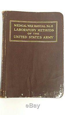 Rare antique original World War 1 Medical War Manual good condition