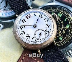 Really Pretty Early Ww1 Trench Watch Nice and Original Rosetta Watch Company
