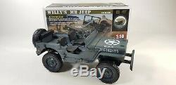 Remote Control Rc Military Ww1 Us Army Willys Jeep Model 4x4 Off Road Truck Rtr