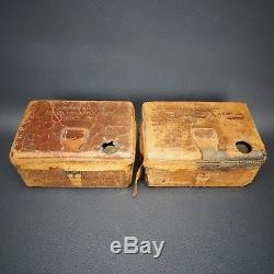 SET OF 2 WWI US Army Service Buzzers Model 1914 Telegraph Key Morse Code