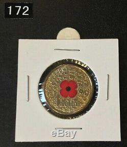 SUPER LOW RESERVE 2015 $1 WW1 Red Poppy UNC Coin. LOT #172