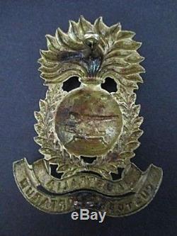 Scarce Ww1 Australian Garrison Artillery Militia Helmet Plate Badge Medal