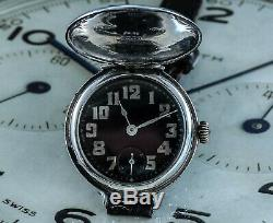 Sensational 1915 Silver Full Hunter Rolex WW1 Trench Watch in Superb Condition