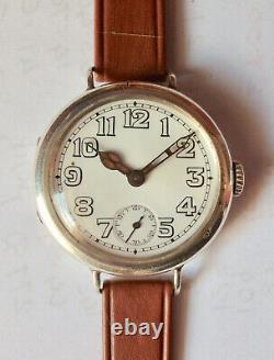 Silver Ww1 Trench Watch 1917 Cyma Working