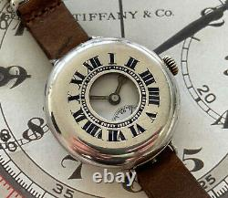 Stunning 1916 Un-Signed Silver Rolex Marconi WW1 Half Hunter Trench Watch