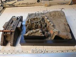 Stunning Pro Built 1/35 British Ww1 Mkiv Tank & Trench Diorama Built / Made