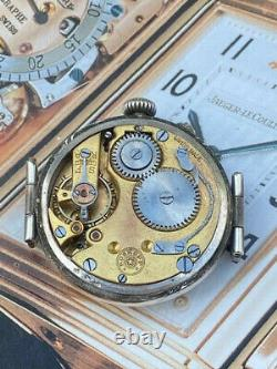 Stunning Silver Cased WW1 Roskopf Trench Watch with Swivel Lugs