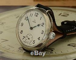 Stunning Transitionary Omega WW1 Trench Watch Show Stopping Watch Great Crown